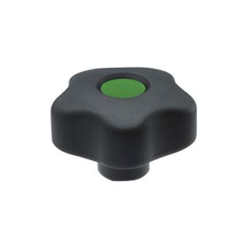 伊莉莎+冈特 凸轮旋钮,黄铜毂螺纹孔带盖帽,VCT.32 B-M6-C17,绿色,1个