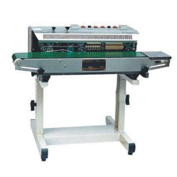 西域推荐 落地式墨轮印字封口机,封口宽度:6-15mm,输送承载:7.5kg,型号:WS-950