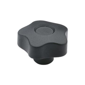 伊莉莎+岡特 凸輪旋鈕,黃銅轂螺紋孔帶蓋帽,VCT.32 B-M5-C9,黑色,1個
