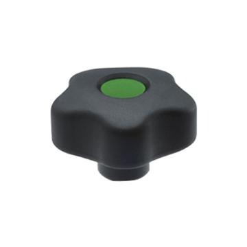 伊莉莎+岡特 凸輪旋鈕,黑色氧化處理鋼轂普通盲孔帶轂帽,VCT.32 A-6-C17,綠色,1個