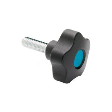 伊莉莎+冈特 凸轮旋钮,镀锌钢螺杆带毂帽,VCT.95 p-M16x50-C5,蓝色,1个