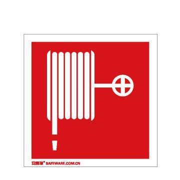 安赛瑞 消防警示标签-消防水带,不干胶,100×100mm,20221,10片/包