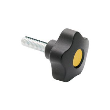 伊莉莎+冈特 凸轮旋钮,镀锌钢螺杆带毂帽,VCT.40 p-M8x50-C4,黄色,1个
