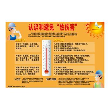 """安赛瑞 认识和避免""""热伤害"""",ABS板,75cm×50cm,30425"""