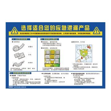 安赛瑞 选择适合您的应急泄漏产品,ABS板,75cm×50cm,30421