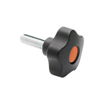 伊莉莎+冈特 凸轮旋钮,镀锌钢螺杆带毂帽,VCT.40 p-M8x50-C2,橙色,1个