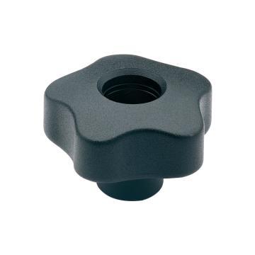 伊莉莎+岡特 凸輪旋鈕,鍍鋅鋼轂帶螺紋孔無轂帽,VCT.32 AZ-FP-M6,黑色,1個