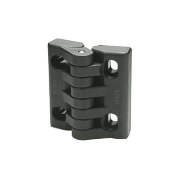 伊莉莎+岡特 帶可調節槽孔的鉸鏈,CFA.65-SL-H,黑色,1個