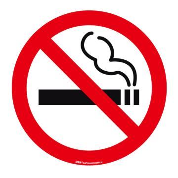 安賽瑞 地貼警示標識-禁止吸煙,超強耐磨地貼材料,Ф400mm,15713