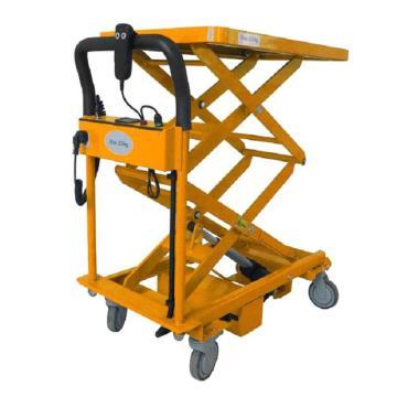 虎力 双剪电动撑杆式升降平台车,载重:100KG 台面尺寸800X500mm,LA100D-01