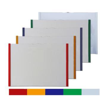 西域推荐 翻页式磁性文件袋,A4,外框319×230mm,横向,绿色