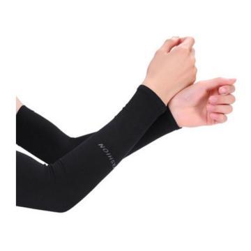 昭雪 夏季冰爽袖套,直筒款,黑色,2双装