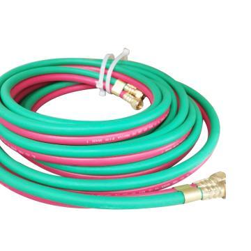 捷锐氧焊双管(氧气乙炔各一根,红绿双色),操作温度-25—80℃,内径1/4″长度25ft,HW24-025