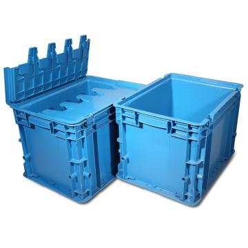 力王 C型第二代周轉箱,PK-C2(帶蓋),外尺寸:400×300×280mm,藍色