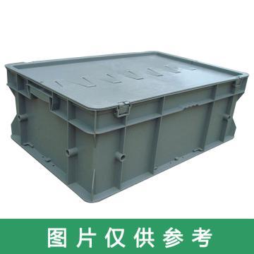 力王 F型第二代周轉箱,PK-F2(無蓋),外尺寸:600×400×220mm,灰色