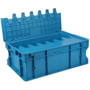 力王 F型第二代周轉箱,PK-F2(無蓋),外尺寸:600×400×220mm,藍色