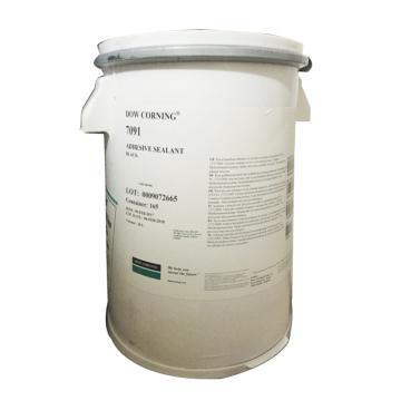 道康宁 有机硅密封胶,7091WHITE,脱醇,白色,20L/桶