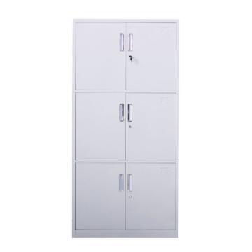 通体三节柜,钢板厚度0.6 ZY-G005 1800*850*390钢制
