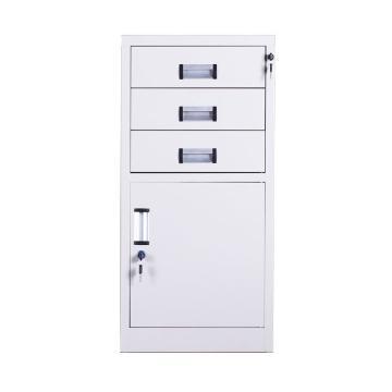 西域推荐 三斗柜,钢板厚度0.8 ZY-G068 900*425*390钢制
