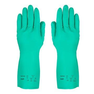 安思爾Ansell 丁腈防化手套,37-873-9,Solvex系列 32cm,1副