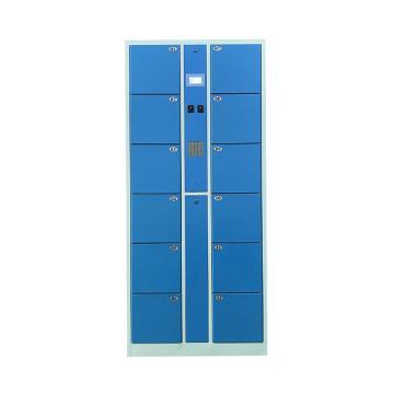 实验室12门数字密码柜,外型尺寸:H1800×W850×D460mm,单格尺寸:H280XW300XD460mm,128*64点阵液晶