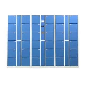 实验室36门数字密码柜,外型尺寸:H1800×W2550×D460mm,单格H280XW300XD450mm