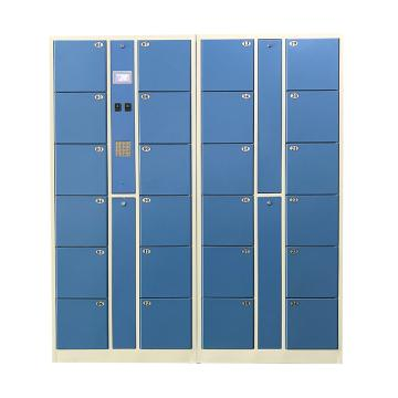 实验室24门数字密码柜,外型:H1800×W1700×D460mm,单格H280XW300XD460mm