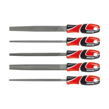 易尔拓YATO 三色柄钢锉组套,5件套 3# 250mm,YT-6239