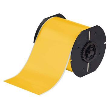 贝迪BRADY BBP31/33/35/37连续胶带,B595,户内/外乙烯,100mm×30m,黄色,B30C-4000-595-YL