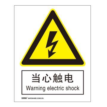 安赛瑞 国标标识-当心触电,ABS板,250×315mm,30801