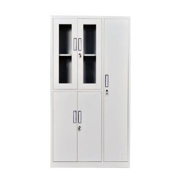 西域推荐 玻璃更衣柜,钢板厚度0.6 ZY-G019 1800*900*420钢制