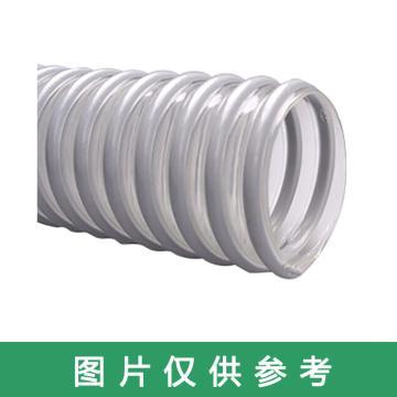 上海存简 PU塑筋螺旋增强软管,白色内径45mm,壁厚2mm的塑筋增强软管,50m/卷