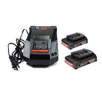 博世BOSCH 2电1充套装18V/2.0Ah ,1600A01B6K,搭配GAL 18V-40充电器