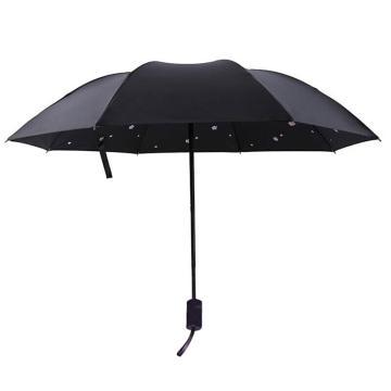 雨宝 樱花黑胶太阳伞防紫外线遮阳伞(款式随机)
