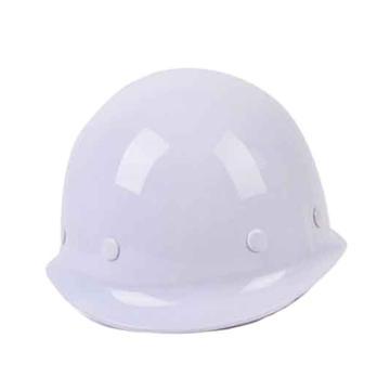 日月星 合金钢头盔式安全帽,白色,印三个线条及安全标示