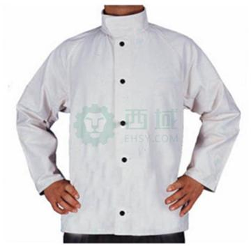 威特仕 焊接防护服,33-8167-XXL,白色帆布上身工作服