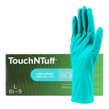 安思尔Ansell 无粉一次性手套,92-605-M,Touch N Tuff一次性超长丁腈无粉手套,100只/盒