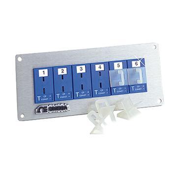 OMEGA MJP插座面板(帶插座和面板),MJP1-06-K,1排6插座