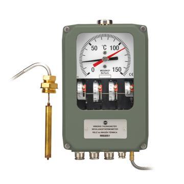 德国Messko 绕组温度计,BETECH 0~150℃,4个微动开关,12m毛细管
