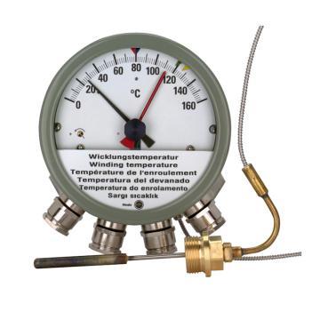 德国Messko 绕组温度计,MT-ST160W/TT 0-160℃,4个微动开关,6m毛细管