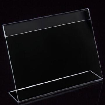 L型标识牌,2mm横版透明 150*100mm