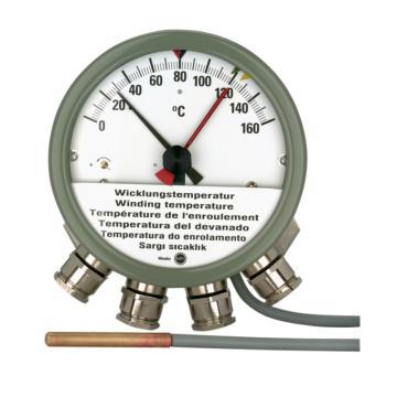 德国Messko 绕组温度计,MT-STW160F2 -0-160℃,4个微动开关,6m毛细管