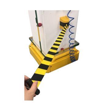 壁挂式伸缩隔离带(定制款),黄黑外壳,黄黑带子,带长10米