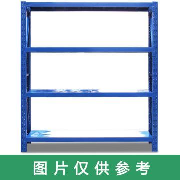 云洁 中型货架主架,尺寸(mm):1500*600*2000,三层层板,200KG,蓝色,立柱固定,含运费含安装