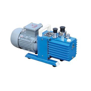 谭氏 真空泵,防爆,直联旋片式,2XZF-0.5,三相,抽气速度:0.5L/S,外形尺寸:447x168x260mm