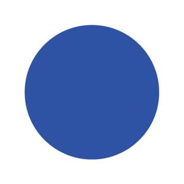 5S桌面定位贴,耐磨,蓝色,圆形,8CM
