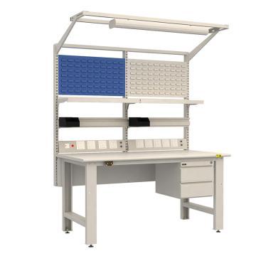 佰斯特 防靜電重型工作臺,(含雙抽/電源線盒)1530×750×760,PST-90W-13,不含安裝費