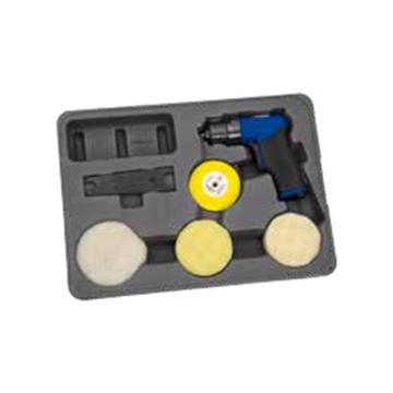 """蓝点 3""""气动微型砂磨机套装,AT403MCKA"""