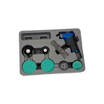 """蓝点 3""""气动微型砂磨机套装,AT401MCKA"""