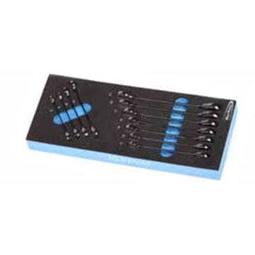 蓝点 EVA工具托组套,11件单向棘开两用扳手,EVA7